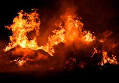 En brasa som brinner
